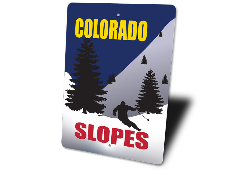 Colorado Slopes, Ski Sign, Skier Sign
