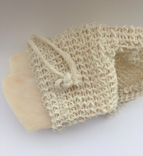 Natural sisal soap saver bag