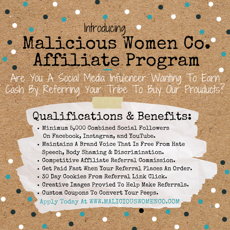 Join the Malicious Women Affiliate Program