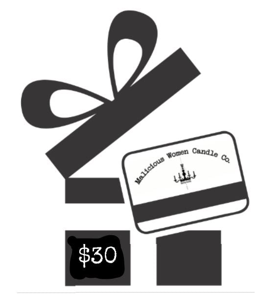 Malicious Gift Card Gift Card Malicious Women Candle Co. $30.00 USD