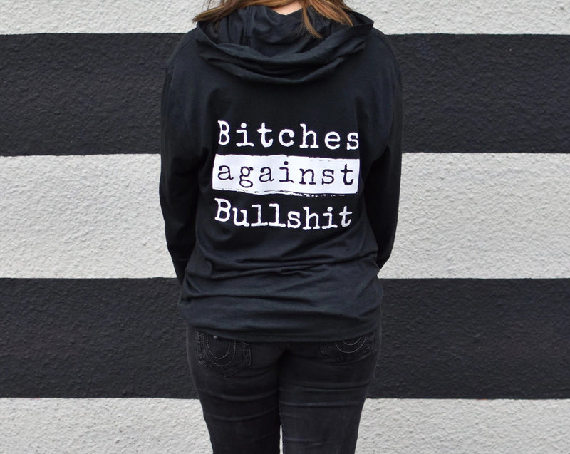 Bitches Against Bullshit Malicious Long-Sleeved T-Shirt Hoodie Apparel Malicious Women Candle Co.
