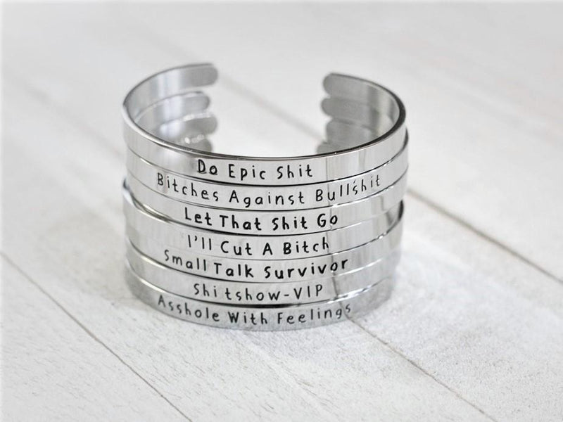 Bitches Against Bullshit - Bangle Bracelet Jewelry Malicious Women Candle Co.