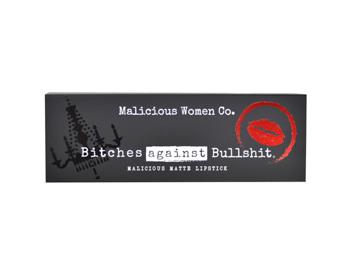 Bitches Against Bullshit - Malicious Matte Liquid Lipstick - Boss Bitch! (True Red) Makeup Malicious Women Candle Co.