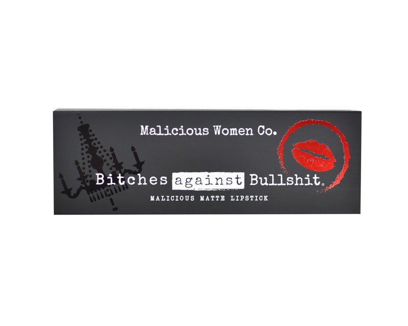 Bitches Against Bullshit - Malicious Matte Liquid Lipstick - Bitch, Please! (Nude Rose) Makeup Malicious Women Candle Co.