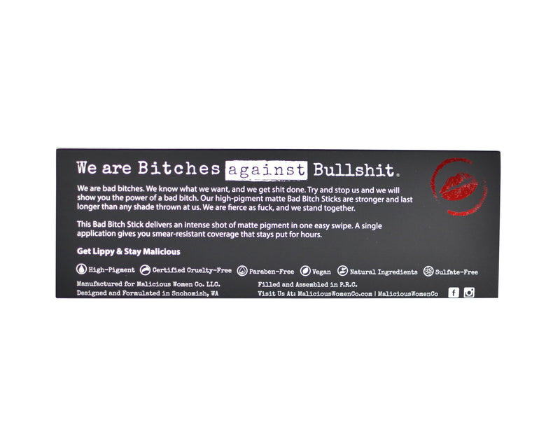 Bitches Against Bullshit - Malicious Matte Liquid Lipstick - Bitch Mode! (Medium Nude) Makeup Malicious Women Candle Co.