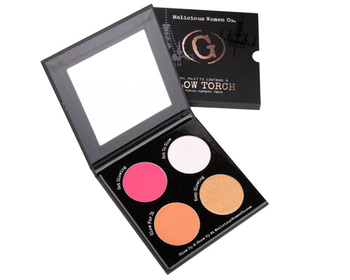 Glow Torch - Highlighter Palette Makeup Malicious Women Candle Co.