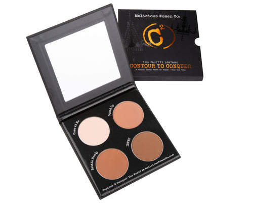 Contour To Conquer - C2 Powder Palette (Med/Deep) Makeup Malicious Women Candle Co.