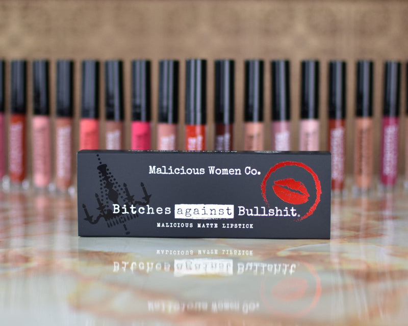 Bitches Against Bullshit - Malicious Matte Liquid Lipstick - Work, Bitch! (Peachy Nude) Makeup Malicious Women Candle Co.