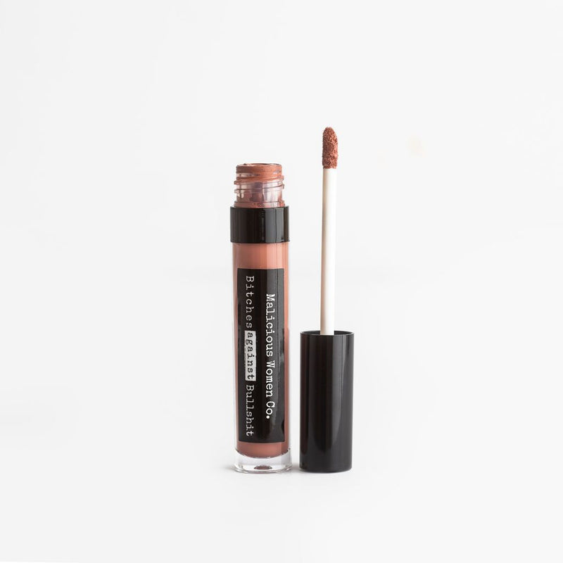 Bitches Against Bullshit - Malicious Matte Liquid Lipstick - Bitch, Please! (Nude Rose)