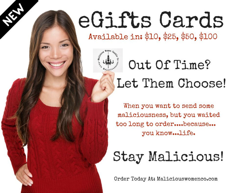 Malicious Gift Card - Malicious Women Candle Co.