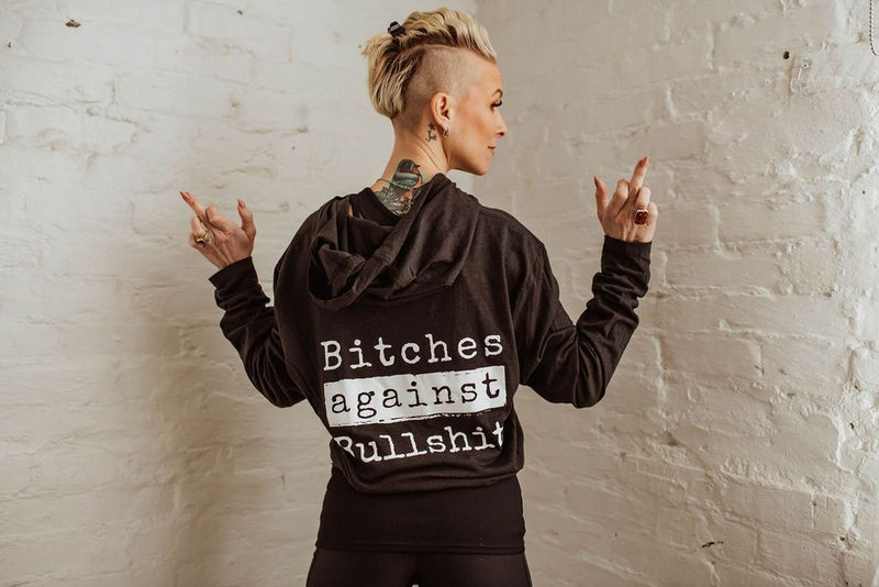 Bitches Against Bullshit Malicious Long-Sleeved T-Shirt Hoodie