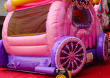 Unicorn Princess Carriage Bouncy Castle and Slide (12' x 12' x 20')