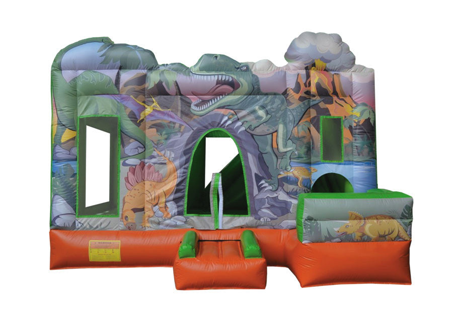 Dinosaur Bouncy Castle & Slide (13' x 13' x 13')                        All Day Rental