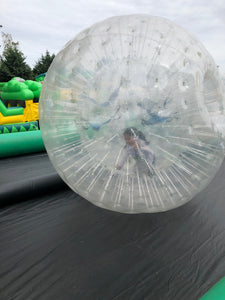 Human Hamster Balls and 70' track. All day rental