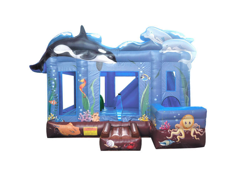 Ocean Bouncy Castle & Slide (17' x 15' x 13') All Day Rental