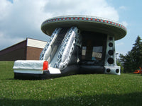 UFO Bouncy Castle & Slide (37' x 26' x 18') All Day Rental