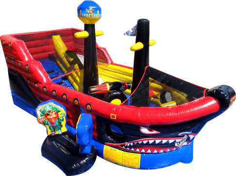 Pirate Ship Bouncy Castle & Slide (22' x 13' x 12') All Day Rental