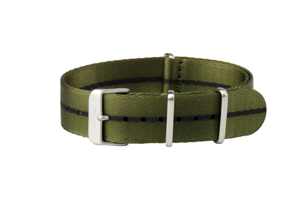 Mill Green Thin Seatbelt Nato Watch Strap