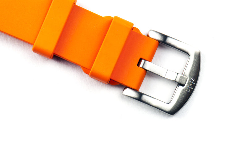 SMC Rubber - Orange Basic Vulcanized Rubber Strap