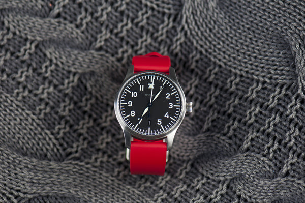 SMC Rubber - Red Basic Vulcanized Rubber Strap