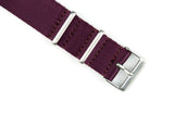 Burgundy Thin Seatbelt Nato Watch Strap