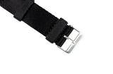 Black 2-Piece Thin Seatbelt Watch Strap