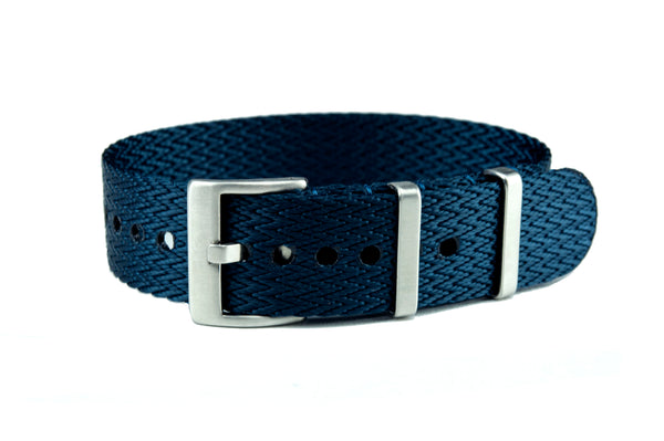 Blue Single Pass Seatbelt Watch Strap