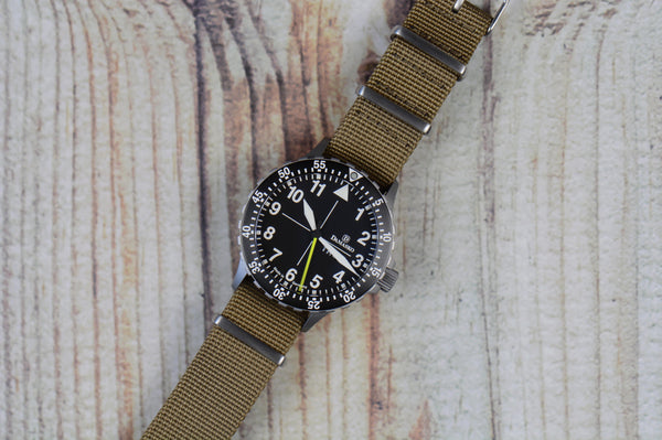 Desert Sand Cross Stitched Nato Watch Strap