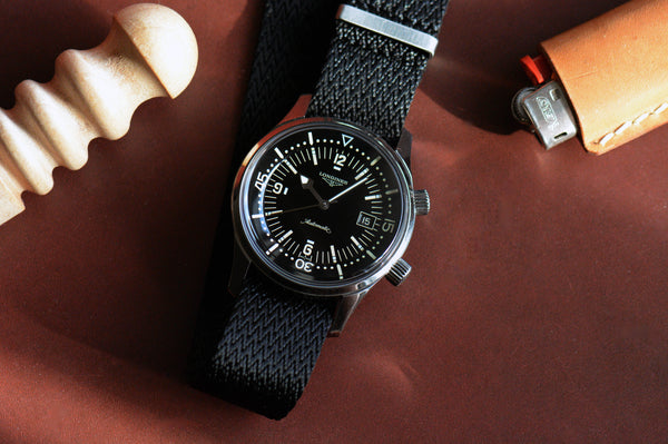 Black Single Pass Seatbelt Watch Strap