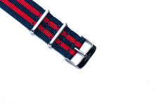 Navy Blue and Red Bond Nato Watch Strap