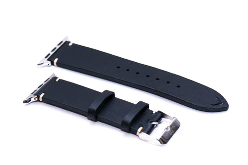 Black Double Sided Leather Strap for Apple Watch