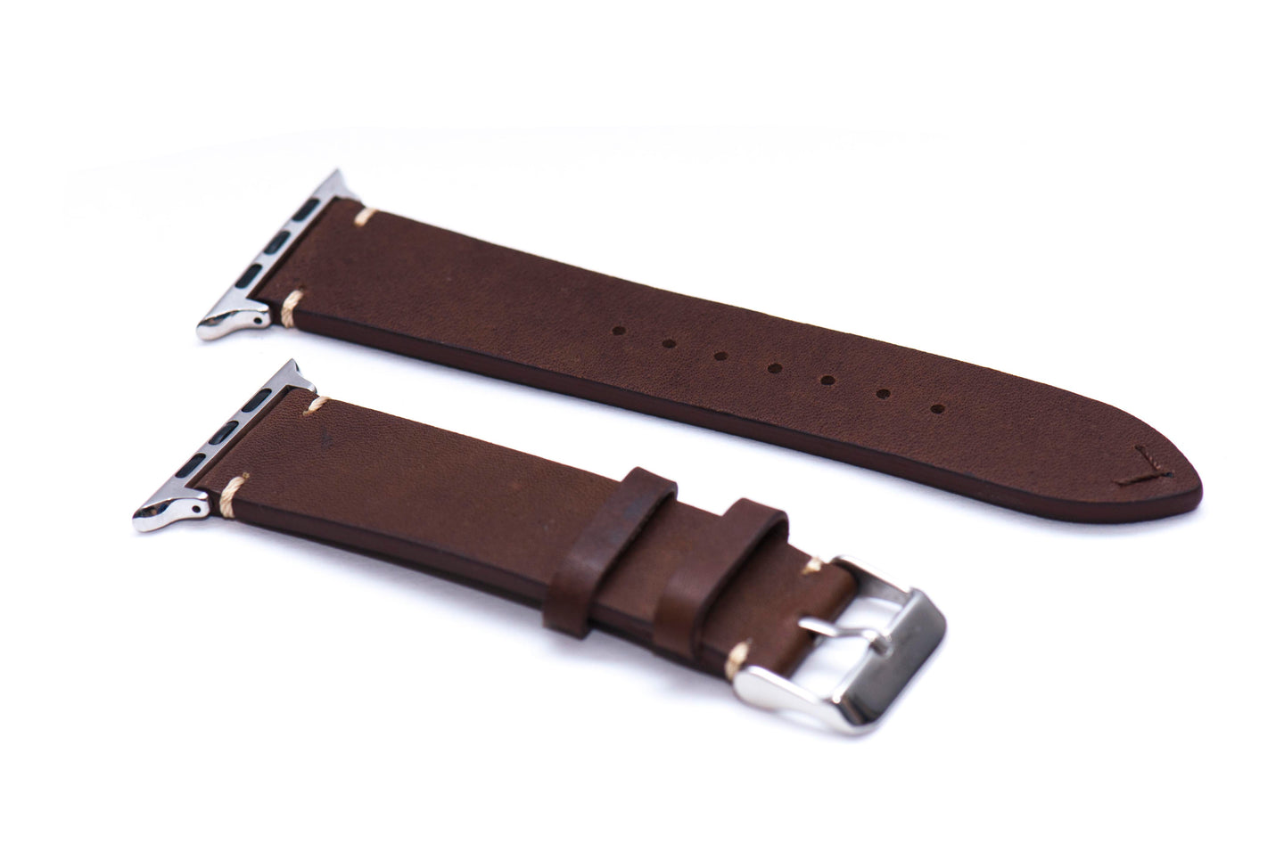 Chestnut Brown Double Sided Leather Strap for Apple Watch