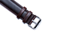Oil Tanned Dark Brown Leather Strap