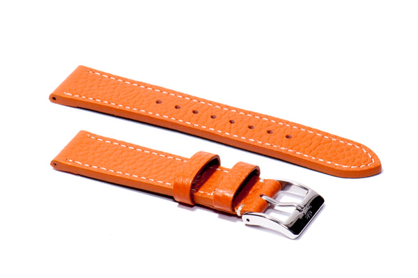 Pumpkin Marbled Leather Strap (Clearance)