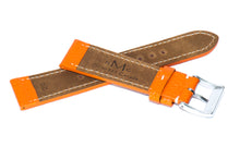 Pumpkin Marbled Leather Strap