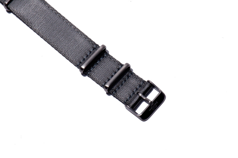 Grey Thin Seatbelt Nato Watch Strap