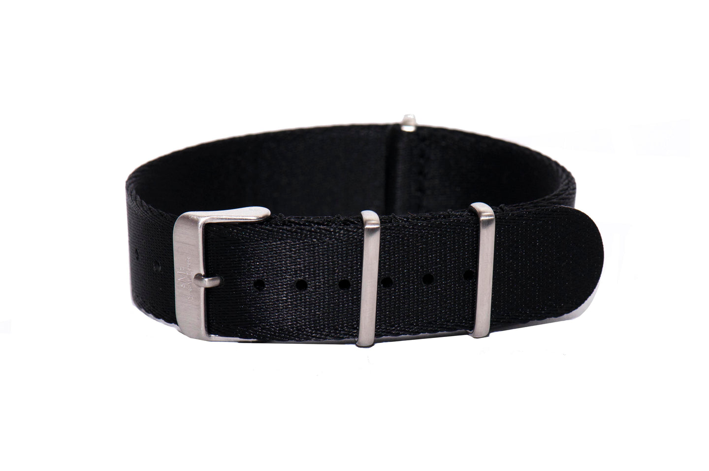 Black Thin Seatbelt Nato Watch Strap