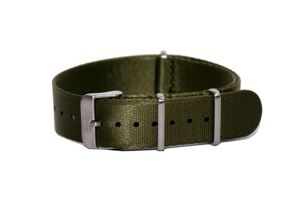 Olive Thin Seatbelt Nato Watch Strap