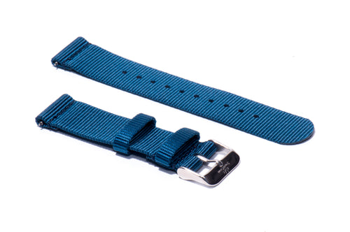 Ocean Blue 2-Piece Nylon Watch Strap