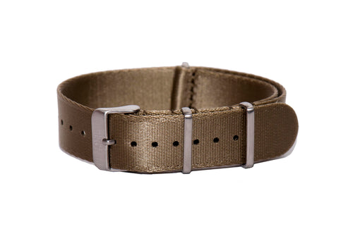 Khaki Thin Seatbelt Nato Watch Strap
