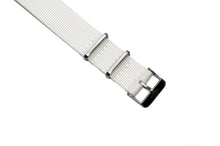 Snow White Cross Stitched Nato Watch Strap