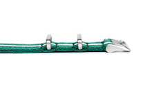 Sacramento Green Stripe Thin Seatbelt Nato Watch Strap