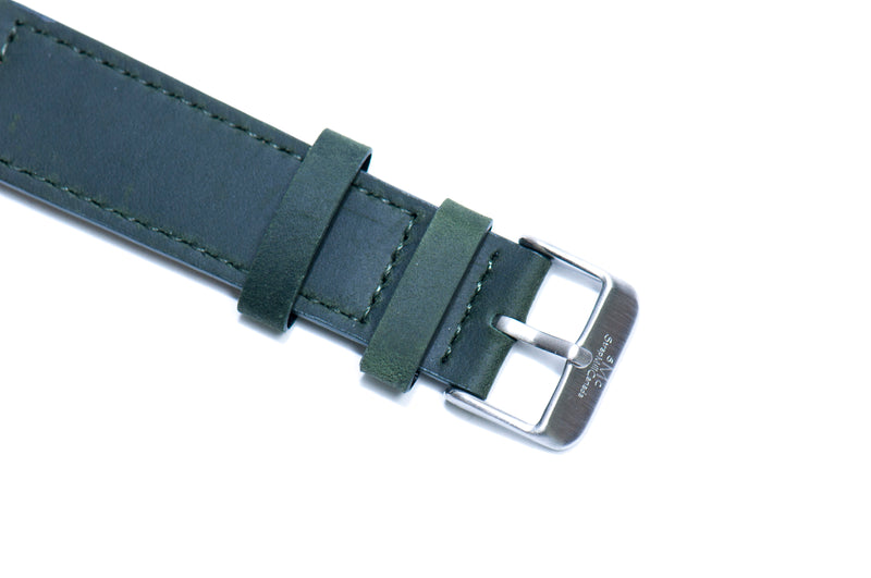 Forest Green Crazy Horse Leather Strap