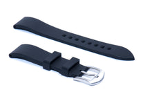 SMC Rubber - Black Basic Vulcanized Rubber Strap