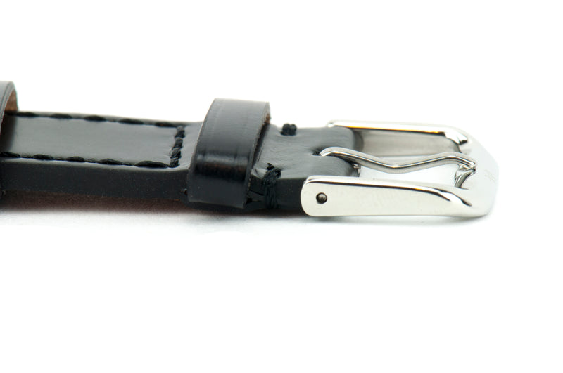 Black Shell Cordovan Leather Strap