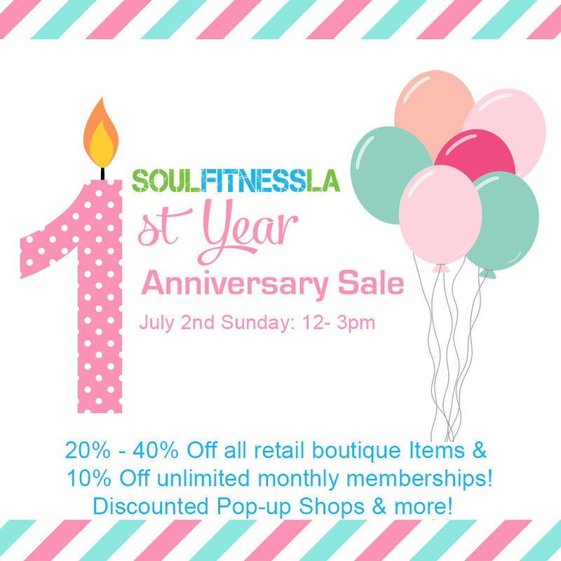 July 2 - Booth at Soul Fitness LA Lunch Party