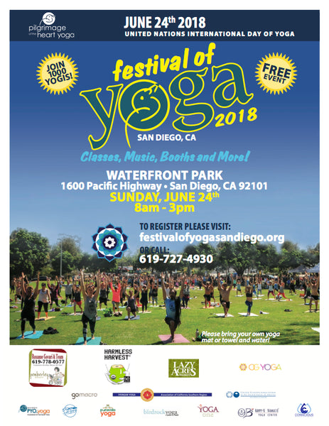 Jun 24 (Sun) - Booth at Festival of Yoga San Diego
