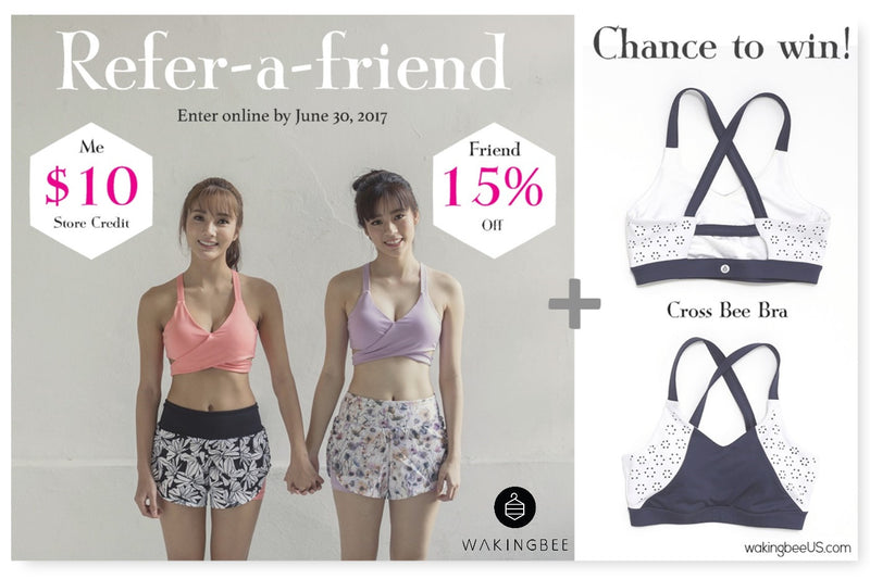 Refer-a-friend: You get $10, a friend gets 15% off