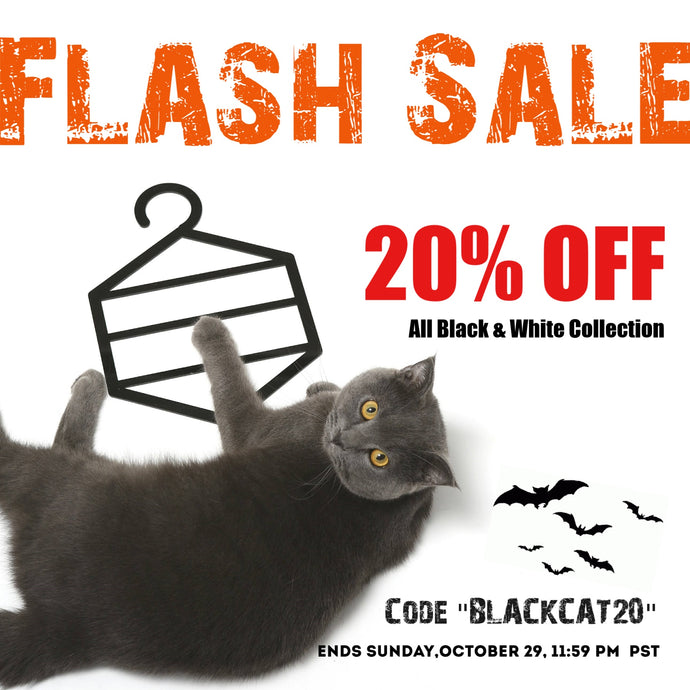 FLASH SALE! 20% Off Black & White Collection