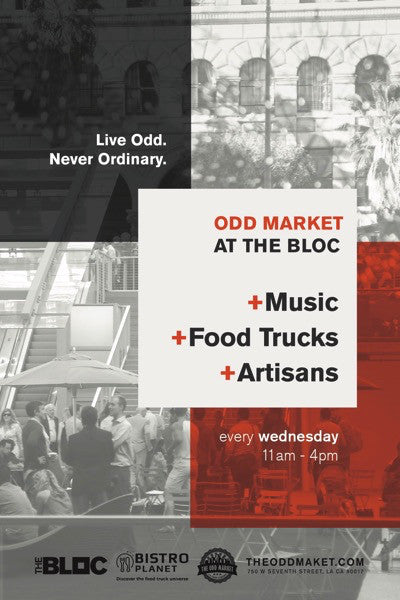 July 12-Booth at Odd Market at the Bloc, DTLA